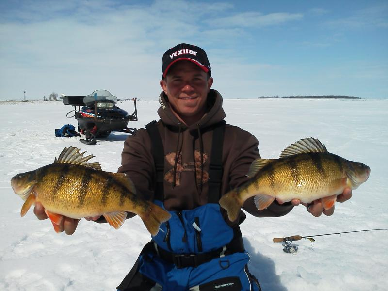 Waubay lake guide service guided ice fishing for Ice fishing perch
